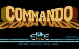 Title screen of Commando on the Atari ST.