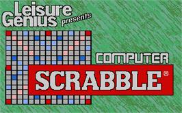 Title screen of Computer Scrabble Deluxe on the Atari ST.
