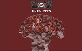 Title screen of Conflict: Europe on the Atari ST.