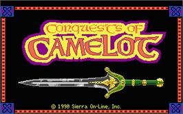 Title screen of Conquests of Camelot: The Search for the Grail on the Atari ST.