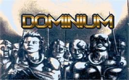 Title screen of Continuum on the Atari ST.