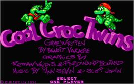 Title screen of Cool Croc Twins on the Atari ST.
