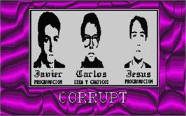 Title screen of Corruption on the Atari ST.