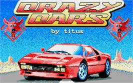 Title screen of Crazy Cars on the Atari ST.