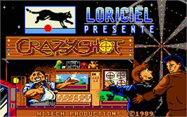 Title screen of Crazy Shot on the Atari ST.