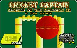 Title screen of Cricket Captain on the Atari ST.
