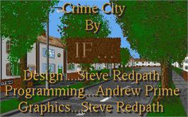 Title screen of Crime Time on the Atari ST.