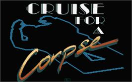 Title screen of Cruise for a Corpse on the Atari ST.