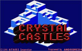 Title screen of Crystal Castles on the Atari ST.