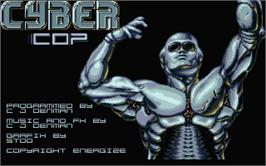 Title screen of Cyber Snake on the Atari ST.
