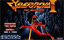 Title screen of Cybernoid 2: The Revenge on the Atari ST.