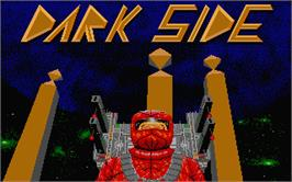 Title screen of Dark Side on the Atari ST.
