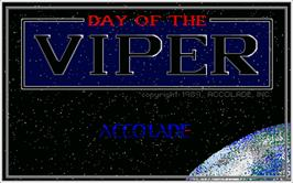 Title screen of Day of the Viper on the Atari ST.