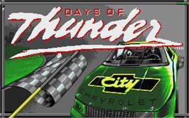 Title screen of Days of Thunder on the Atari ST.