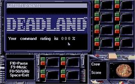 Title screen of Deadline on the Atari ST.