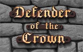 Title screen of Defender of the Crown on the Atari ST.