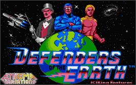 Title screen of Defenders of the Earth on the Atari ST.