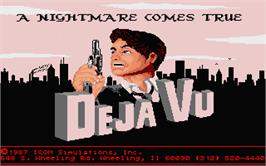 Title screen of Deja Vu: A Nightmare Comes True on the Atari ST.