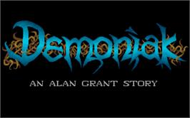 Title screen of Demon Blue on the Atari ST.
