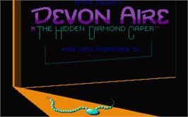 Title screen of Devon Aire in the Hidden Diamond Caper on the Atari ST.