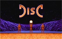 Title screen of Disc on the Atari ST.