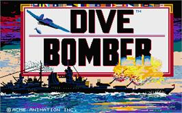Title screen of Dive Bomber on the Atari ST.