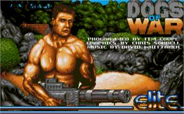 Title screen of Dogs of War on the Atari ST.