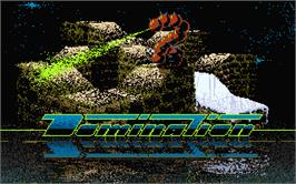 Title screen of Dominator on the Atari ST.