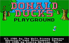 Title screen of Donald Duck's Playground on the Atari ST.