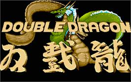 Title screen of Double Dragon on the Atari ST.