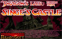 Title screen of Dragon's Lair 2: Escape from Singe's Castle on the Atari ST.