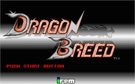 Title screen of Dragon Breed on the Atari ST.