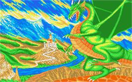 Title screen of Dragon Lord on the Atari ST.