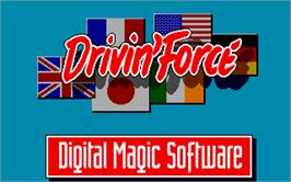 Title screen of Driving Force on the Atari ST.