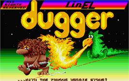 Title screen of Dugger on the Atari ST.