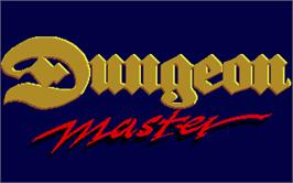Title screen of Dungeon Master on the Atari ST.
