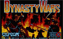 Title screen of Dynasty Wars on the Atari ST.