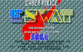 Title screen of E-SWAT: Cyber Police on the Atari ST.