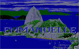 Title screen of Emmanuelle: A Game of Eroticism on the Atari ST.