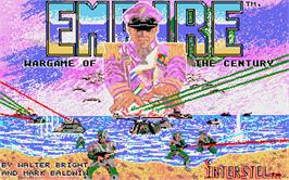 Title screen of Empire: Wargame of the Century on the Atari ST.