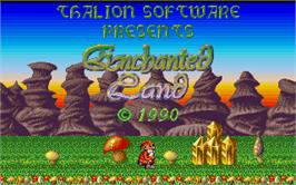 Title screen of Enchanter Trilogy on the Atari ST.