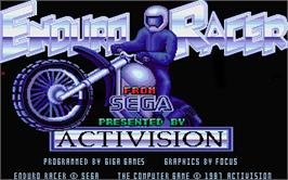 Title screen of Enduro Racer on the Atari ST.