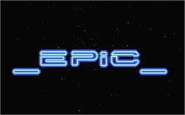 Title screen of Epic on the Atari ST.