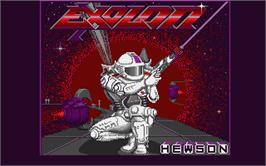 Title screen of Exolon on the Atari ST.
