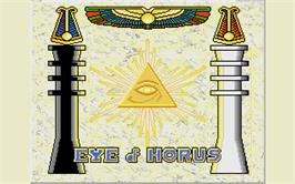 Title screen of Eye of Horus on the Atari ST.