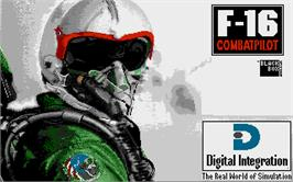 Title screen of F-16 Combat Pilot on the Atari ST.