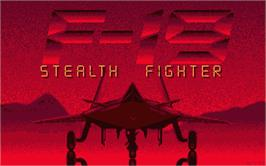 Title screen of F-19 Stealth Fighter on the Atari ST.