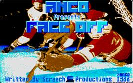 Title screen of Face-Off on the Atari ST.