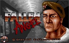 Title screen of Fallen Angel on the Atari ST.