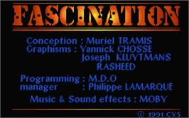 Title screen of Fascination on the Atari ST.
